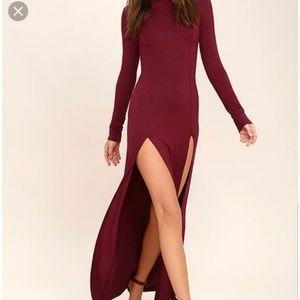 Lulu's Rustling Leaves long sleeve dress NWT